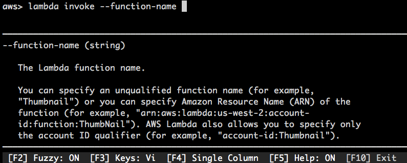 Super-Charge Your AWS Command-Line Experience with aws-shell